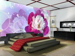 Bedroom Purple Wallpaper - aliexpress com buy custom 3d mural large mural 3d stereo tv