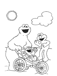 coloring pages cookie monster coloring pages redcabworcester