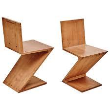 chaise rietveld chaise zig zag par gerrit rietveld pour metz co 1968 en vente