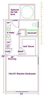 master bedroom bath floor plans 14x30 master bed and bath floor plan 3 4 bath bath