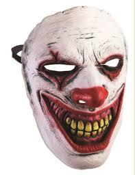 evil clown frontal face mask crazy killer halloween costume