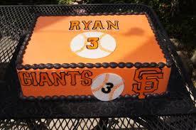 orange and black sf giants themed birthday sheet cake sheet