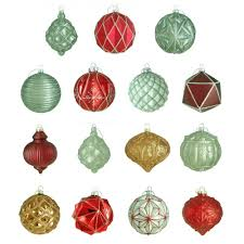 Home Depot Christmas Lawn Decorations by Martha Stewart Living 100 Mm Winter Tidings Ornament Assortment