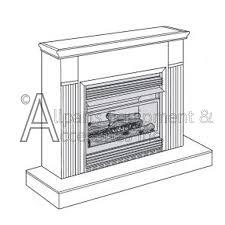Desa Ventless Fireplace - vmh26prb desa vent free compact propane fireplace