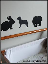 how make shadow animal wall stickers elle cherie shadow animals bookcase bassinet
