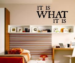 it is what it is quote vinyl wall lettering vinyl wall