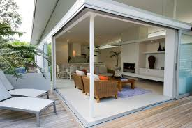 Gracefl Brown Outdoor Living Space Exterior Paired With - Outdoor family rooms