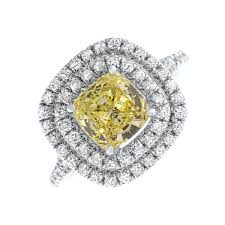 citrine engagement rings 18kt white gold engagement ring with center 2 50ct cushion cut