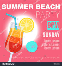 poster flyer summer beach cocktail party stock vector 680803501