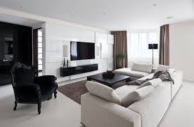 fascinating black and white contemporary apartment designs