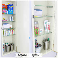 Organize Medicine Cabinet High Low Bathroom Cabinet Organization Just A And Her Blog