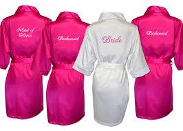 bridesmaid satin robes monogrammed satin robe with date bridesmaid satin robes