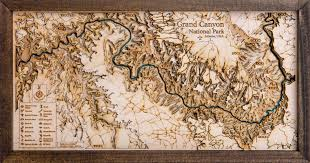 Map Of Grand Canyon Small Grand Canyon 3d Wood Map U2022 Tahoe Wood Maps