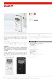 download free pdf for sangean dt 120 radio manual