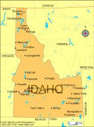 map of idaho cities idaho counties road map usa