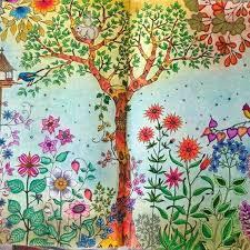 secret garden coloring book coloring book hand drawn pencils