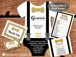 gentleman baby shower baby shower invitation onesie gentleman bow tie
