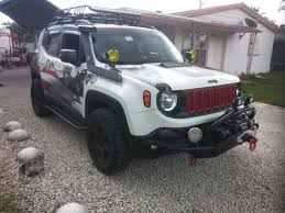 gray jeep renegade the only ram air aluminum snorkel in the world for a jeep renegade