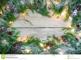 blank sign with snowy garland border stock image image