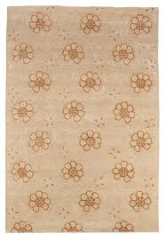 Orange Modern Rug Contemporary Modern Wool Area Rug Carpet 5x8 Tufted Beige