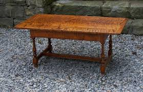 Tiger Maple Furniture Wheeler Tiger Maple Coffee Table