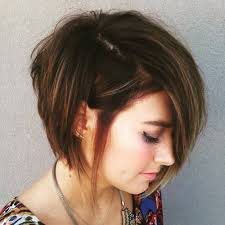 layered hairstyles with bangs and tuck behind the ears asymmetrical choppy bob i love the length here it s definitely