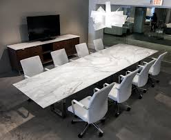 marble conference room table contemporary stone conference table ambience doré