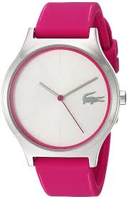 Color Pink by Amazon Com Lacoste Women U0027s U0027nikita U0027 Quartz Stainless Steel And