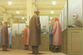 government bureau 1956 george tooker wikiart org