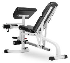 xmark fid weight bench w leg ext and preacher curl white walmart com