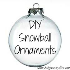 how to make snowball ornaments budget savvy