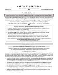 entry level sales resume sales manager resume samples by martin b corcoran perfect career