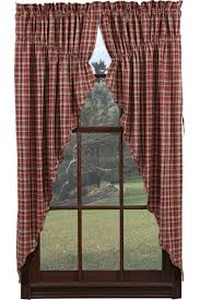 braddock plaid prairie curtain window toppers window toppers