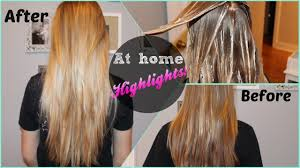 diy highlights for dark brown hair diy at home highlights revlon frost glow youtube