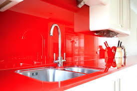 Red Kitchen Backsplash by Bathroom Interesting Red Backsplash Burnt Tiles Kitchen For