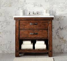 single sink console vanity benchwright single sink console rustic mahogany finish pottery barn