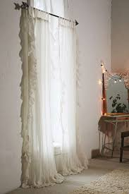 Shabby Chic Voile Curtains Interior Window Accessories Exciting White Ruffle Curtains