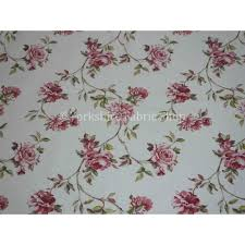 British Upholstery Fabric Rose Flower Pattern Pink Colour Print Cotton Fabric Curtains