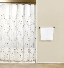 loretta embroidered floral sheer curtain panel curtain u0026 bath outlet