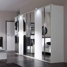 Schlafzimmerschrank Schwarz Spiegel Kleiderschrank Kangron In Weiß 270 Cm Pharao24 De