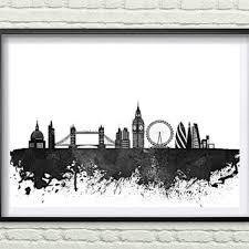 Home Decor Shops London Shop London Skyline Art On Wanelo