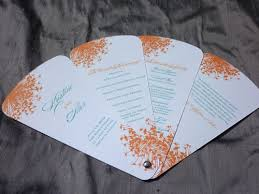 fan shaped wedding programs petal fan wedding programs blush paperie