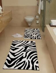 Black And White Bathroom Rugs Animal Skin Bath Rug Zebra Pattern Chesapeake Merchandising