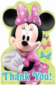 minnie s bowtique disney minnie mouse bowtique thank you notes birthdayexpress