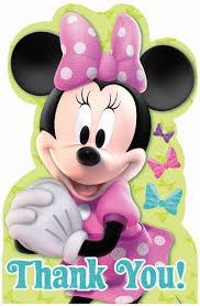minnie s bowtique disney minnie mouse bowtique thank you notes birthdayexpress