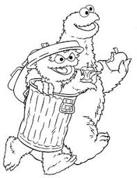 free sesame street printables coloring pages abc letter light