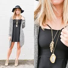 black dress grey cardigan color dress style