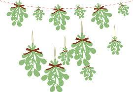 christmas mistletoe paper mistletoe christmas garland hanging decoration christmas