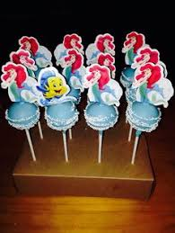 flounder and ariel cake pops for a little mermaid party mmmmm