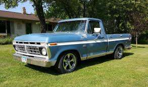 Ford F100 1975 1976 Ford F100 With Ridler Chrome 645 Wheels